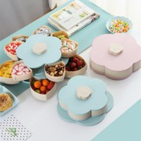 Wholesale plastic case for fruits for sale - Group buy Petal Shape Rotating Plastic Storage Box for Seeds Nuts Candy Dry Fruits Case Plum Type Lunch Container for Kids Protect