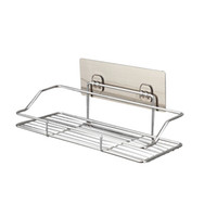 Wholesale tier bathroom shelf for sale - Group buy Stainless Steel Bathroom Shelf Holder Kitchen Storage Rack EDC Wall Hanging Wire Shelving Water Proof Silvery No Punching ll C1