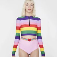 63dc2ae1a0 Womens Two-Piece Suits 2019 Summer New Fashion Rainbow Color Tops Cute  Heart Pattern Print Shorts Seaside Swimwear Sun Protect Crop Tops