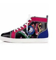 hakiki sandal erkekler toptan satış-2019 Moda Tasarımcısı Çivili Spike Flats ayakkabı mens sandalet erkekler ve Kadınlar Için düz Ayakkabı Parti Severler Hakiki Deri Sneakers