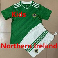 uniforme verde da juventude do futebol venda por atacado-New 2,019 Irlanda do Norte Kit Crianças Camisola de Futebol Roupa Home Green Boy Girl Youth Soccer Jersey National Team Cup Europeu Euro 2020