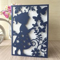 Wholesale house figures resale online - 20PCS Invitation Card With Pearl Paper Decoration With Wedding Girl Children s Day Blessing Birthday Graduation Invitations Thanks Gift Card
