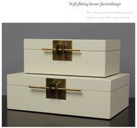 luxus wohnzimmermöbel großhandel-Einfache neoklassische leichte Luxus erhalten Schmuckschatulle Einrichtungsgegenstände Hotel Modell Wohnzimmer Möbel Dekorationen