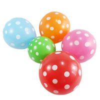 латексные шарики оптовых-10pcs Latex Polka Dot Balloon Heart Woopower Float Inflatable Air Balls for Festival Decoration 12 Inch