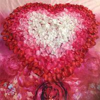 decoração de casamento de borgonha venda por atacado-500 PCS Flores Artificiais Borgonha Seda Pétalas de Rosa Festa Em Casa Casamento Nupcial Do Corredor Do Chuveiro Decoração Flores Falsas Atacado 30FB1
