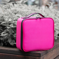 Multi-functional simple and portable web celebrity travel makeup box professional hand makeup artist with makeup bag