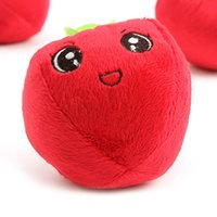 ingrosso giocattolo della peluche della mela-Cute Dog Plush Toy Fun Cute Little Apple Vocal Pet giocattoli peluche Pet Supplies