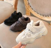 topuklu çocuklar için toptan satış-Tasarımcı Çocuklar Erkek Çocuklar Kız Bebek Bebek Kedi Topuk Kanye West yez 500 Sneaker Bebek Koşu Spor Shoes