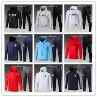 Wholesale boys hoodies online - PSG tracksuit new real madrid KIDS soccer Training suit MBAPPE maillot de foot Paris hoodie child Sportswear hoodie kit