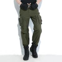 outdoor-trikots großhandel-Europa Freiheit Ritter im Freien Cargo Pants Multi Pocket Jersey Männer Armee grün Wandern Camping lange Hosen