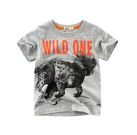 bestellen verkauf kleidung großhandel-Baby-T-Shirts wilde Tiere 100% Baumwolle scherzt Jungen kurzärmelige Kinderkleidung Mischungsauftrag heißer Verkauf Tees T-Shirt dropship
