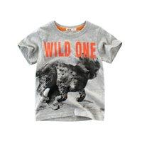 venda de roupas para venda venda por atacado-Baby tshirts animais selvagens 100% algodão crianças meninos de manga curta crianças roupas misturam a ordem venda quente Tees T-shirt dropship