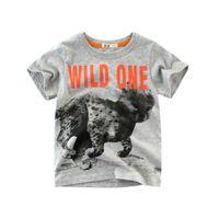 venta de pedidos de ropa al por mayor-Camisetas de bebé animales salvajes 100% algodón niños niños de manga corta ropa para niños orden de la mezcla venta caliente camisetas camiseta dropship