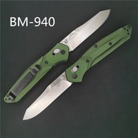 ingrosso maniglie bm42-Benchmade BM940 Osborne coltello pieghevole S30V AXIS lock, manico in alluminio Titanio viola clip posteriore 485 940 3300 BM42 BM41 BM943 coltello a farfalla