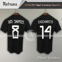 Wholesale soccer jerseys mexico for sale - Group buy Player Version Mexico CCCF Gold Cup Soccer Jersey Mexico Home CHICHARITO H LOZANO G DOS SANTOS black football Shirt