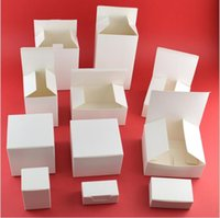 büyük parti lehine kutular toptan satış-20 adet Çok Boyutu Beyaz Karton Ambalaj Kutusu Parti Favor Hediye Kutusu Küçük Kozmetik Ambalaj Büyük Hediye Kağıt