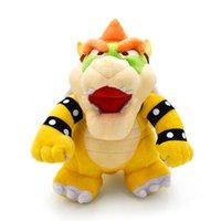детские игрушки для мальчиков оптовых-Super Mario Bros Bowser Koopa мягкие плюшевые игрушки аниме Peluche мягкие куклы для ребенка Детские игрушки 25 см оптовая цена