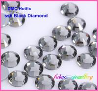 Wholesale dmc rhinestone ss6 for sale - Group buy ss6 mm High Quality DMC Black Diamond Iron On Rhinestones Hot fix Rhinestones