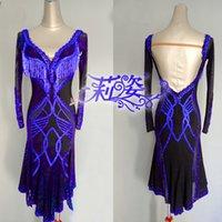 ingrosso stili di abito latino-Tassel Latin Dance Dress Abbigliamento Salsa Costume vestito da ballo latino New Style della competizione 2019
