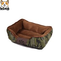 Wholesale camouflage beds for sale - Group buy Camouflage Dogs Bed Fashion Pet Nest Cat Litter Autumn Winter Plus Velvet Pets Kennel Small Dogs Nest Soft Detachable Kennel
