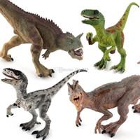 ação mundial venda por atacado-Alta Qualidade T-Rex Pteranodon Therizinosaurus Spinosaurus Modelo Dinossauro Mundo Parque Dinossauros Jurássicos Figuras de Ação Boneca de Brinquedo