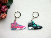 Wholesale ring holders shoes for sale - Group buy Mini Silicone Keychain Bag Charm Woman Kids Key Ring Gifts Sneaker Key Holder Pendant Accessories Shoes Key Chain