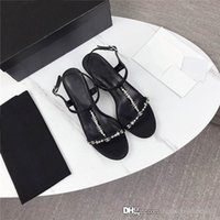 Wholesale make up import for sale - Group buy High heels with square head and drill are made of imported leather fabric with leather outsole high heel sandals Complete set of shoe box