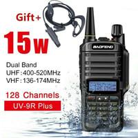 radyo vhf çift yönlü toptan satış-UV-9R Artı Baofeng 15 W VHF UHF Walkie Talkie Dual Band El Iki Yönlü Telsiz