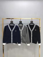 can can toptan satış-19ss Fransa Paris lüks erken sonbahar yeni sınırlı sayıda yüksek kaliteli hırka kazak erkek tasarımcı erkekler ve kadınlar giyebilir etiketi üst