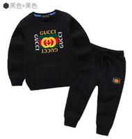 volle baby trainingsanzug großhandel-Heißer verkauf marke baby mantel trainingsanzüge frühling herbst jungen mädchen baumwolle volle ärmel jacket + pants 2 teile / sätze jungen kind kleidung set baby set oder