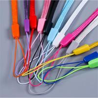 cables de teléfono celular al por mayor-Muñeca, mano, teléfono celular, cadena móvil, correas, llavero, cordones, bricolaje, colgar, cuerda, lanio, cordón, colorido