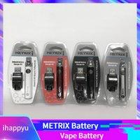 ingrosso inserire la cartuccia ce3-METRIX 650mAh Preriscaldamento Batteria Funzione 650VV METRIX Tensione variabile 3,4 V ~ 4 V CE3 Vape batteria 510 Filo Batteria per cartucce Vape sottili