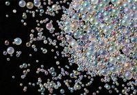bolinhas de bolinhas de resina venda por atacado-200 gramas pacote a granel AB Water Bubble Bead Mix para enchimento de resina UV Kawaii   Contas de gota de água sortidas   Gota de Água 1mm a 3mm