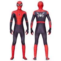 kahraman üniforma toptan satış-Cadılar Bayramı Süper Kahraman Örümcek Adam Kostüm İnce Üniformalar Yetişkin için Cosplay Tayt Parti Giyim dropshipping