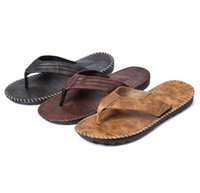 Wholesale male flip flops resale online - Summer Cool New Arrival Men Flip Flops British Style Boardered Beach Sandals Non slide Male Slippers Zapatos Hombre