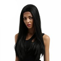 Wholesale virgin human hair wigs for sale resale online - Style supplier on sale unprocessed remy virgin human hair long natural color natural straight full lace cap wig for women