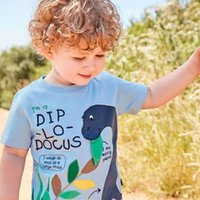 kinder mode gedruckt t-shirts großhandel-Jungen Sommer T Shirts Muster Gedruckt Mode Baby Kleidung 100% Baumwolle Tops für Kinder Kleidung Tees