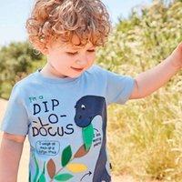 a forma dos miúdos imprimiu camisetas venda por atacado-Meninos Verão Camisetas Padrões Impresso Moda Roupas de Bebê 100% Algodão Tops para Roupa Dos Miúdos Tees