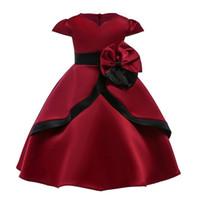 keman düğün elbisesi toptan satış-Çiçek Kız Elbise Kız Elbise Yürüyor Çocuk Bebek Kız Ilmek Prenses Elbise Parti Gelinlik Çocuk Elbisesi Elbiseler N29