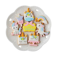 Wholesale embossing tool cookie for sale - Group buy 8pcs Set Creative Unicorn Cookie Cutter Biscuit Mold DIY Fondant Chocolate Cake Embossing Stencil Mold Baking Tools
