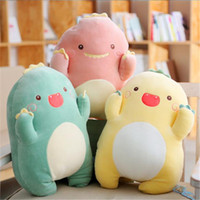 Wholesale cute girl beds resale online - Hot Sale High Quality Little Dinosaur Pillow Cute Girl Heart Pink Plush Toys Accompanied With Sleeping Bed Dolls