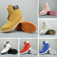 botas de invierno marrón para mujer al por mayor-Original Timberland Boots Hombre Mujer Diseñador Boot Castaño Triple Negro Blanco Camo Verde Marrón Martin Botas de invierno tamaño 36-46