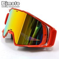 Wholesale woman cycling helmets for sale - Group buy BJMOTO Oculos Off road Motocross Goggles Glasses Sunglass Snow Ski Face Mask Sport Racing Cycling Motor MX Helmet Goggle