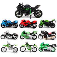 Wholesale maisto motorcycles resale online - Maisto Motorbike Model Toy Alloy Motorcycle Ninja ZX R KX250F Z1000 Vulcan Collrction Adults Toys Gift