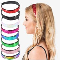 Wholesale women hair accessories for sale - Mermaid sequins hair sticks fashion women girls holiday princess headband hair accessories for differnt colors