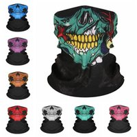 Wholesale hand printed scarf for sale - Group buy Skull Riding Sport Scarf Outdoor Neck Hand Bandana Camping Neck Gaiters Scarves Multifunction Cycling Hip Hop Bandanas Scarf CCA12237