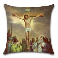 Admirable Jesus Suffered 14 Times Christianity Cushion Cover Decorative Home Sofa Chair Car Seat Friend Kids Living Room T Pillowcase Unemploymentrelief Wooden Chair Designs For Living Room Unemploymentrelieforg