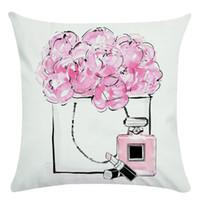 ingrosso vernice viola-Fodere per fiori e bottiglie di profumo dipinte a mano Fodera per cuscino e fodera per cuscino da cuscino Super Soft