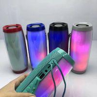 mini-boombox-radio großhandel-LED tragbarer Bluetooth-Lautsprecher wasserdichtes FM-Radio Wireless Boombox Mini Column Bass Subwoofer MP3 Sound Bar