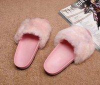 zapatillas grises de hotel al por mayor-mujeres del diseñador de lujo de piel deslizadores de la manera muchachas de las mujeres del diseñador de moda sandalias Negro Rosa Gris Rojo Azul diapositivas de alta 12